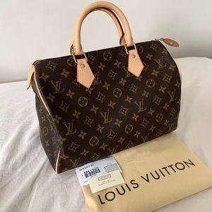 2008 Louis Vuitton Speedy 30 Monogram Bag LV